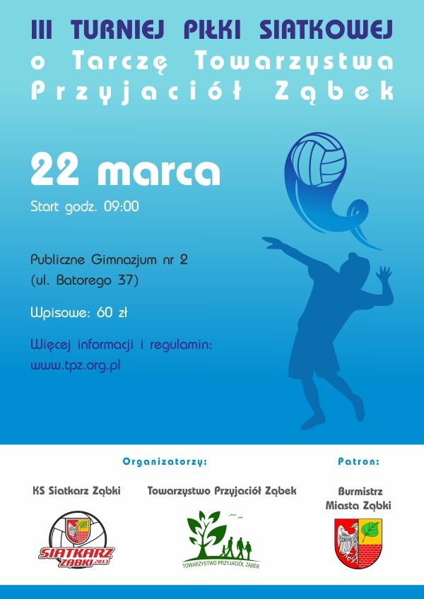 Plakat III turnieju siatkówki